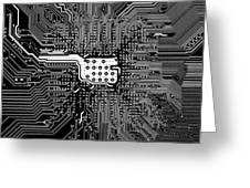 Chipset Black And White Greeting Card