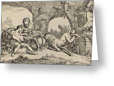 Chiron Teaching Music To Achilles Greeting Card