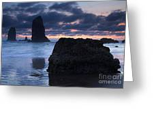 Chiseled By The Sea Greeting Card
