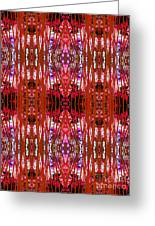 Chive Abstract Red Greeting Card