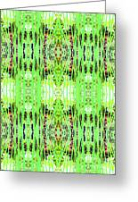 Chive Abstract Green Greeting Card