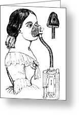 Chloroform Inhaler, 1858 Greeting Card