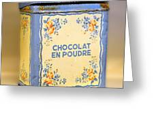 Chocolat En Poudre Greeting Card