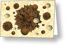 Chocolate Asteroids Greeting Card