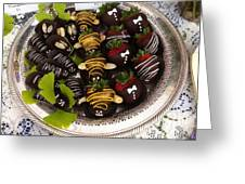 Chocolate Berries Greeting Card