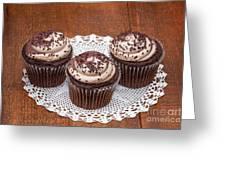 Chocolate Caramel Cupcakes Greeting Card