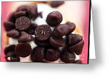 Chocolate Chips Greeting Card