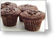 Chocolate Chocolate Chip Muffins - Bakery - Breakfast Greeting Card