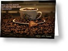 Chocolate Coffee Greeting Card