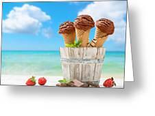 Chocolate Icecreams Greeting Card