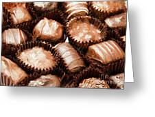 Chocolate Makes The World Go Around Greeting Card