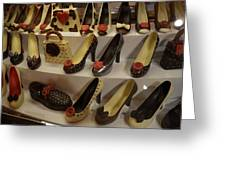 Chocolate Shoes In Milan Greeting Card