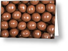 Chocolate Sweet Background Greeting Card