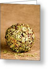 Chocolate Truffles Rolled In Thyme Greeting Card
