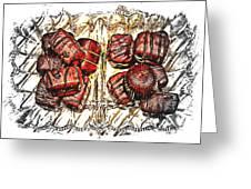 Chocolates - Illustration - Dish - Candy Greeting Card