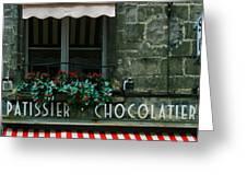 Chocolatier Greeting Card by Georgia Fowler