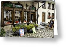 Chocolatier In Gruyeres Greeting Card