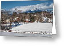 Chocorua - Where The Mountain Meets The Town Greeting Card