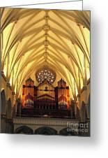 Choir Loft At Saint Josephs Cathedral Buffalo New York Greeting Card