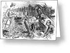 Cholera Cartoon, 1858 Greeting Card