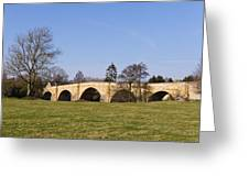 Chollerford Bridge Greeting Card