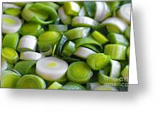 Chopped Scallions Greeting Card