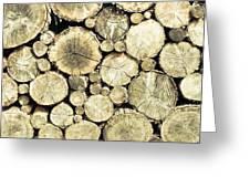 Chopped Wood Greeting Card