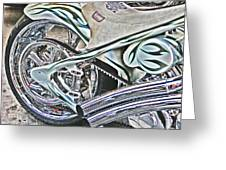 Chopper Belt Drive Detail Greeting Card by Samuel Sheats