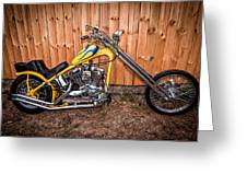 Chopper Custom Built Harley Greeting Card
