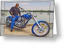 Chopper Motorcycle Greeting Card