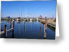 Choptank River Marina Greeting Card