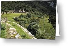 Choquequirao Inca Terraces Greeting Card