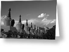 Chortens In The Sky  Greeting Card