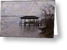 Chowan River Scene With Texture Greeting Card