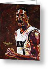 Chris Bosh Greeting Card by Maria Arango
