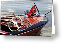 Chris Craft Deluxe Runabout Greeting Card