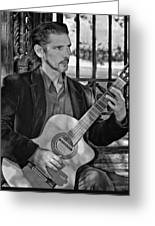 Chris Craig - New Orleans Musician Bw Greeting Card
