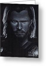 Chris Hemsworth Greeting Card by Rosalinda Markle