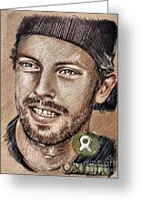 Chris Martin Greeting Card