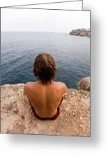 Chris Sharma Relaxing And Meditating Greeting Card