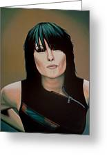 Chrissie Hynde Painting Greeting Card