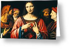 Christ Among The Doctors Greeting Card