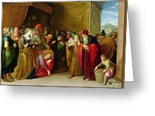 Christ And The Woman Taken In Adultery Greeting Card