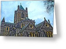 Christ Church Cathedral In Dublin Greeting Card
