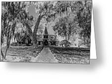 Christ Church Etching Greeting Card by Debra and Dave Vanderlaan