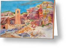 Christ In The Desert Monastery Greeting Card