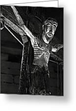 Christ Of Salardu - Bw Greeting Card