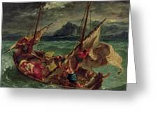 Christ On The Sea Of Galilee Greeting Card by Delacroix