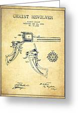 Christ Revolver Patent Drawing From 1866 - Vintage Greeting Card