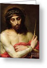 Christ The Man Of Sorrows Greeting Card by Bartolome Esteban Murillo